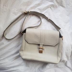 Marc Jacobs light grey leather shoulder bag